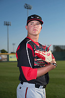 Lake Elsinore Storm starting pitcher Adrian Morejon (19) poses for a photo before a California League game against the Modesto Nuts at John Thurman Field on May 11, 2018 in Modesto, California. (Zachary Lucy/Four Seam Images)