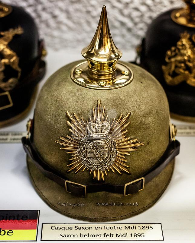 German First World War Saxon Helmet<br /> World War 1 German Helmet