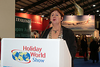 NO FEE PICTURES.25/1/13 Clare Dunne, President ITAA with at the Holiday World Show at the RDS, Dublin. Picture:Arthur Carron/Collins