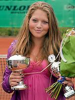 8-8-09, Asten,NJK, Gabriele van de Graaf winnaar meisjes 16 jaar