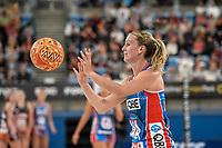 6th June 2021; Ken Rosewall Arena, Sydney, New South Wales, Australia; Australian Suncorp Super Netball, New South Wales, NSW Swifts versus Giants Netball; Natalie Haythornthwaite of NSW Swifts passes the ball