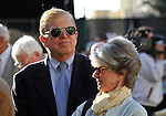 31 January 2009: Roy and Gretchen Jackson, owners of Nicanor, before the colt runs in his first race and finishes a disappointing 11th in a maiden race at Gulfstream Park in Hallandale, Florida.