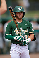 USF Bulls pinch hitter Alex Bello (33) at bat during a game against the Dartmouth Big Green on March 17, 2019 at USF Baseball Stadium in Tampa, Florida.  USF defeated Dartmouth 4-1.  (Mike Janes/Four Seam Images)