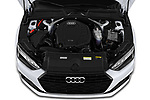 Car Stock 2021 Audi A5-Sportback Design 5 Door Hatchback Engine  high angle detail view