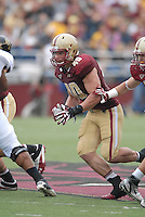 Boston College Eagles linebacker Luke Kuechly (#40) in action versus the Wake Forest Demon Deacons at Alumni Stadium in Chestnut Hill, Massachusetts on October 1, 2011.Wake Forest would defeat the Eagles 27-19.Photo By Ken Babbitt/Four Seam Images