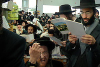 UKRAINE, Uman, 2008/09..For one week a year, tens of thousands of Hasidic Jews gather in Uman, Ukraine, to celebrate Rosh Hashanah, Jewish New Year. This is a time for personal introspection and prayers close to the grave of Rabbi Nachman of Breslov, a great-grandson of the Baal Shem Tov, founder of Hasidism..© Cyril Horiszny / EST&OST