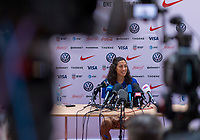 Lyon, FRA - July 1, 2019:  The USWNT held a press conference in preparation for the semifinal of the FIFA Women's World Cup.