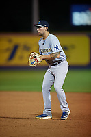 Trenton Thunder first baseman Brandon Wagner (10) during an Eastern League game against the Reading Fightin Phils on August 16, 2019 at FirstEnergy Stadium in Reading, Pennsylvania.  Trenton defeated Reading 7-5.  (Mike Janes/Four Seam Images)