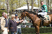 Bert and Diana Firestone, left, who campaigned the great filly Genuine Risk, revel in their Lake Placid's victory in the Foxhunter's Bowl at Middleburg. That's Matt McCarron in the saddle.