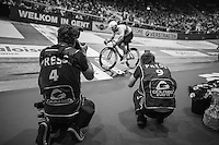 photographers Scott Mitchell & Leon van Bon shooting Mark Cavendish (GBR/Dimension Data) flying by (on his way to victory)<br /> <br /> 2016 Gent 6<br /> day 6