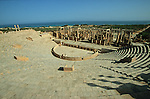 Lepcis Magna or Leptis Magna, an ancient city along the Mediterranean Sea, located near the modern-day city of Al Khums in LibyaSite de Leptis Magna, côte nord de la Lybie. Lybia