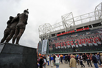 Pictured: The Old Trafford. Saturday 16 August 2014<br /> Re: Premier League Manchester United v Swansea City FC at the Old Trafford, Manchester, UK.