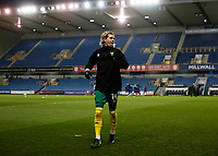 2nd February 2021; The Den, Bermondsey, London, England; English Championship Football, Millwall Football Club versus Norwich City; Todd Cantwell of Norwich City warming up