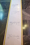 Famous Guest's Signatures  On Floor In Kind David Hotel