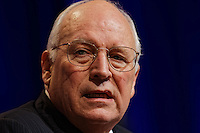former US Vice-President Dick Cheney, pictured during a speech at the CPAC conference in Washington DC. Photo by Trevor Collens.