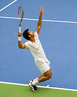 11-02-12, Netherlands,Tennis, Den Bosch, Daviscup Netherlands-Finland, Dubbels, Jean-Julien Rojer