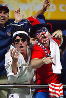 """""""Elvis"""" and USA fans. The USA lost 3-1 against Poland in the FIFA World Cup 2002 in Korea on June 14, 2002."""