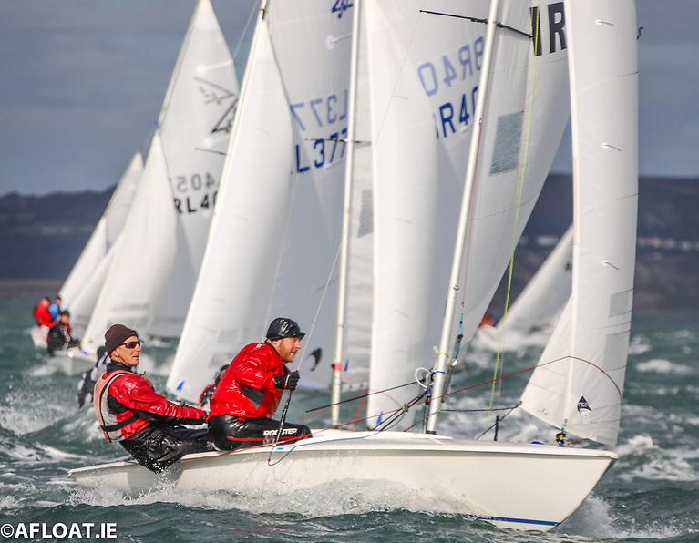 Flying Fifteen racing on Dublin Bay
