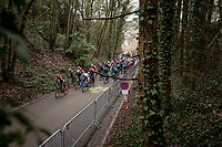 Women's Race uphill start at the 2021 UCI CX World Cup Overijse - Vlaamse Druivencross (BEL) <br /> <br /> ©kramon