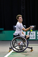 Rotterdam, The Netherlands, 4 march  2021, ABNAMRO World Tennis Tournament, Ahoy, First round wheelchair: Ruben Spaargaren (NED).<br /> Photo: www.tennisimages.com/