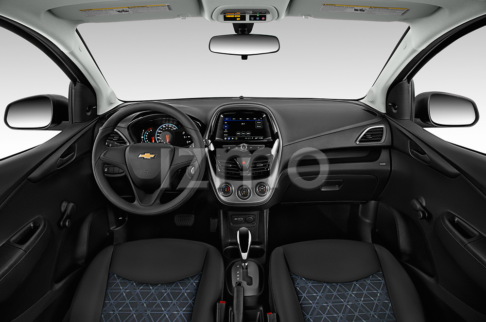 Stock photo of straight dashboard view of a 2020 Chevrolet Spark LS Select Doors Door Hatchback