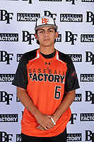 Chase McBean (6) of North Broward Prep in Boca Raton, Florida during the Baseball Factory All-America Pre-Season Tournament, powered by Under Armour, on January 12, 2018 at Sloan Park Complex in Mesa, Arizona.  (Mike Janes/Four Seam Images)