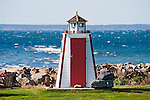 Shoreline lighthouse outhouse, Nova Scotia, Canada