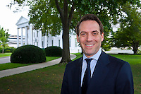 Lafayette College Alum Alan L. Hoffman, Chief of Staff for Vice President Joe Biden stands in from of the White House on Monday August 31, 2009