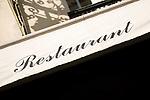 Restaurant Sign, Paris, France