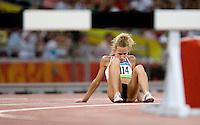 15 AUG 2008 - BEIJING, CHN - Veerle Dejaeghere (BEL) - Womens 3000m Steeplechase heat -  Beijing Olympics. (PHOTO (C) NIGEL FARROW) *** IOC RULES APPLY ON USAGE ***