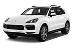 2019 Porsche Cayenne Base 5 Door SUV angular front stock photos of front three quarter view