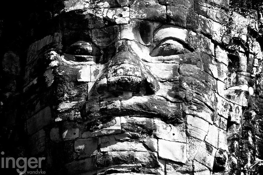 The Face of Angkor Thom, Cambodia