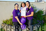 Virtual Excersie Challenge: Charlene Tydings, Ballybunion, left who is taking part in a Virtual Exercise Challenge 4 CF on the weekedn of October 3rd & 4th pictured with Jade Julian & Michelle Tydings.