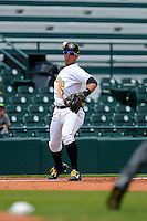 Bradenton Marauders third baseman Benji Gonzalez #7 during a game against the Fort Myers Miracle at McKechnie Field on April 7, 2013 in Bradenton, Florida.  Fort Myers defeated Bradenton 9-8 in ten innings.  (Mike Janes/Four Seam Images)