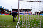 Crystal Palace 1 Huddersfield Town 1, 22/12/2012. Selhurst Park, Championship. Promotion chasing Crystal Palace aim to halt a poor run of form against lowly Huddersfield. The groundsman prepares the pitch. Photo by Simon Gill.
