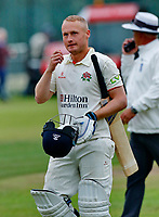 23rd September 2021; Aigburth, Liverpool, Merseyside, England; LV=Country Cricket Championship; Lancashire versus Hampshire; Matt Parkinson of Lancashire hoping for a result that will win them the league