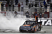 2017 NASCAR Camping World Truck Series - Active Pest Control 200<br /> Atlanta Motor Speedway, Hampton, GA USA<br /> Saturday 4 March 2017<br /> Christopher Bell celebrates his win with a burnout.<br /> World Copyright: Nigel Kinrade/LAT Images<br /> ref: Digital Image 17ATL1nk06686