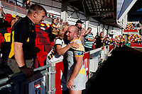 5th June 2021; Brentford Community Stadium, London, England; Gallagher Premiership Rugby, London Irish versus Wasps; Dan Robson of Wasps talking to fans after full time