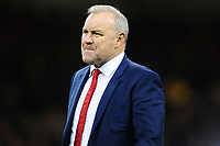 Head Coach Wayne Pivac of Wales during the Guinness Six Nations Championship Round 3 match between Wales and France at the Principality Stadium in Cardiff, Wales, UK. Saturday 22 February 2020