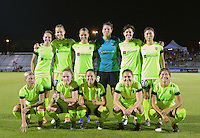 Boyds, MD - Wednesday Sept. 07, 2016: Seattle Reign starting eleven during a regular season National Women's Soccer League (NWSL) match between the Washington Spirit and the Seattle Reign FC at Maureen Hendricks Field, Maryland SoccerPlex.