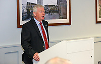 10th October 2019 | Syd Millar Pathway<br /> <br /> Philip Gregg Ulster Branch Senior Vice President during the official opening of the Syd Millar Pathway at Kingspan Stadium, Ravenhill Park, Belfast, Northern Ireland. Photo by John Dickson / DICKSONDIGITAL