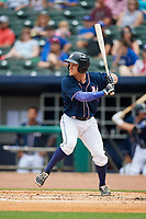 Northwest Arkansas Naturals center fielder Donald Dewees Jr. (16) at bat during a game against the Midland RockHounds on May 27, 2017 at Arvest Ballpark in Springdale, Arkansas.  NW Arkansas defeated Midland 3-2.  (Mike Janes/Four Seam Images)