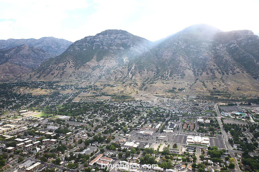 1309-22 0227<br /> <br /> 1309-22 BYU Campus Aerials<br /> <br /> Brigham Young University Campus West looking East, Provo, Sunrise, Y Mountain, South Campus<br /> <br /> September 6, 2013<br /> <br /> Photo by Jaren Wilkey/BYU<br /> <br /> © BYU PHOTO 2013<br /> All Rights Reserved<br /> photo@byu.edu  (801)422-7322