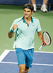 Roger Federer (SUI) defeats Milos Raonic (CAN) 6-2, 6-3