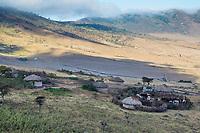 Tanzania. Maasai Hamlet on Outer Rim of Ngorongoro Crater.