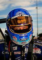 Oct. 31, 2008; Las Vegas, NV, USA: NHRA funny car driver Robert Hight during qualifying for the Las Vegas Nationals at The Strip in Las Vegas. Mandatory Credit: Mark J. Rebilas-