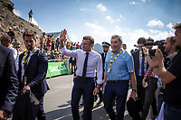 thr president of France Emmanuel Macron and Eddy Merckx were present as a guest.<br /> <br /> Stage 14: Tarbes to Tourmalet (117km)<br /> 106th Tour de France 2019 (2.UWT)<br /> <br /> ©kramon