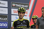 Mikel Nieve (ESP) Mitchelton-Scott at sign on before the start of the 99th edition of Milan-Turin 2018, running 200km from Magenta Milan to Superga Basilica Turin, Italy. 10th October 2018.<br /> Picture: Eoin Clarke | Cyclefile<br /> <br /> <br /> All photos usage must carry mandatory copyright credit (© Cyclefile | Eoin Clarke)