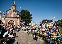 stage leaders up the infamous Muur van Geraardbergen / Kapelmuur<br /> <br /> 17thBenelux Tour 2021 (2.UWT)<br /> (Final) Stage 7: from Namur to Geraardsbergen (178km)<br /> <br /> ©kramon