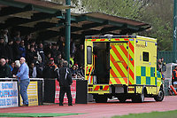 An ambulance attends an incident in the stand at half-time - AFC Hornchurch vs Billericay Town - Ryman League Premier Division Football at The Stadium, Upminster Bridge, Essex - 09/04/12 - MANDATORY CREDIT: Gavin Ellis/TGSPHOTO - Self billing applies where appropriate - 0845 094 6026 - contact@tgsphoto.co.uk - NO UNPAID USE